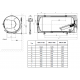 Horizontalus kombinuotas pakabinamas vandens šildytuvas OKCV 160, 152 l