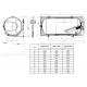 Horizontalus kombinuotas pakabinamas vandens šildytuvas OKCV 200, 200 l