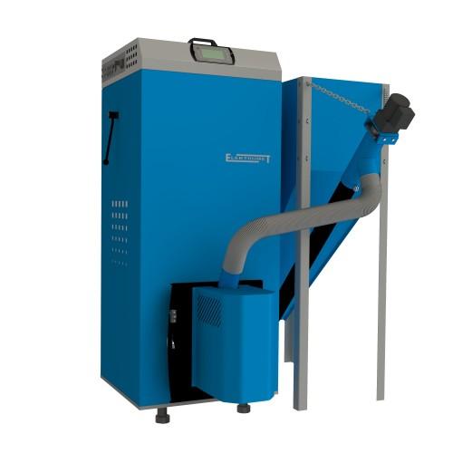 Granulinis katilas Elektromet EKO PE COMPACT 20/310 (galia 18kW, talpa granulėms 310 l)