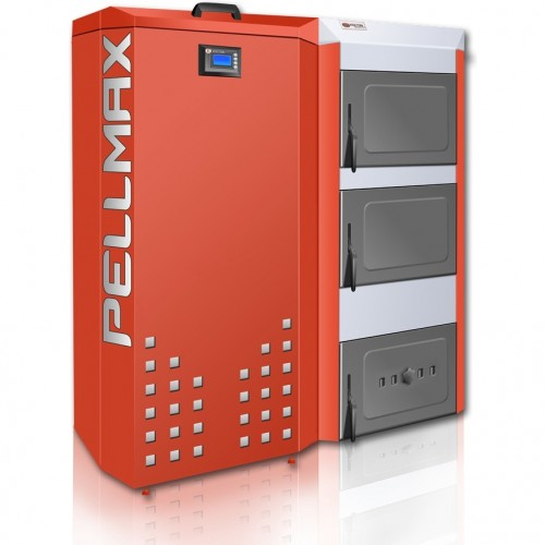 Katilas granulinis PELLMAX 25 kW, bunkerio talpa 800 l