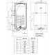 Vertikalus kombinuotas pakabinamas vandens šildytuvas Dražice OKC160, 147 l