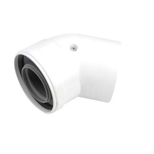 Alkūnė 87°, d. 60/100 mm sistemai su patikrinimo vieta degimo produktų sudėčiai nustatyti