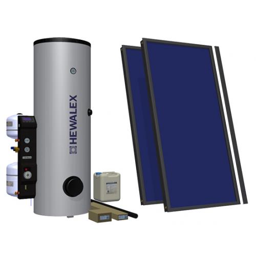 Saulės kolektorių komplektas Hewalex 2TLPAC-200