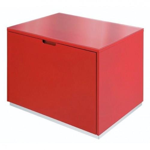 Praustuvo spintelė SFERA 70x52x50 cm, pakabinama su stalčiumi, raudona
