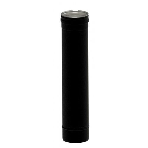 Jungiamasis dūmtakio vamzdis (su tarp.) NP d. 80, L0,5m (juoda matinė sp.)