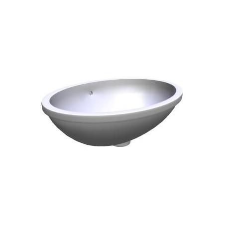 Iš apačios montuojamas praustuvas Thalia 55,5 x 41,5 cm, baltas