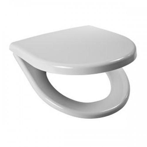 Sėdynė su dangčiu LYRA plus , antibakterinis, duroplast, Slow Close, plastikiniai lankstai, baltas