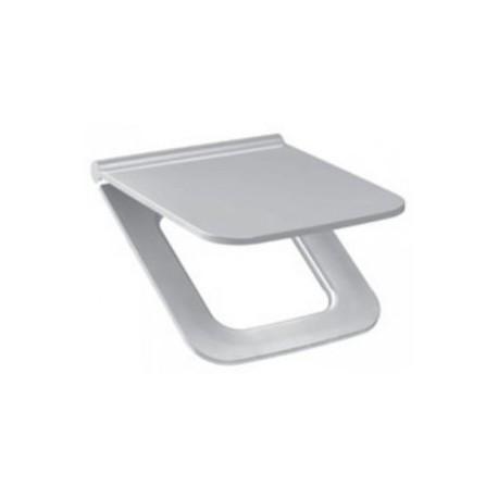 Sėdynė su dangčiu PURE, antibakterinė, chromuoti lankstai, su lėto nusileidimo sistema SLOW CLOSE