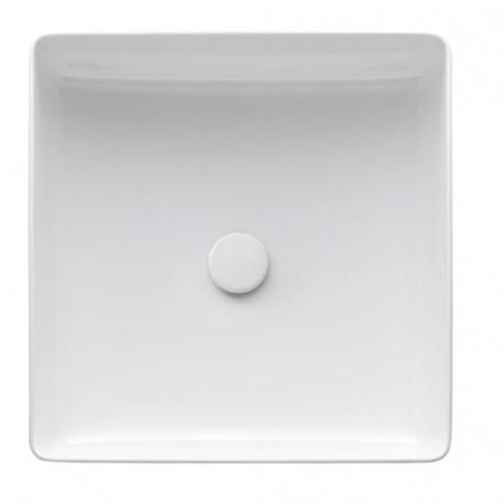 Praustuvas -dubuo Living Square 360x360 mm,be angos maišyt., be perlajos, baltas