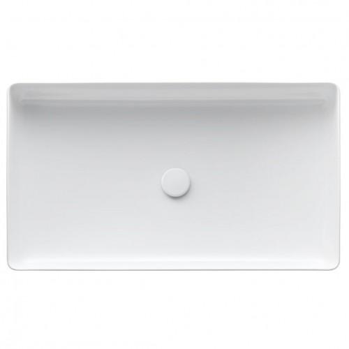 Praustuvas -dubuo Living Square 600x340 mm,be angos maišyt., be perlajos, baltas