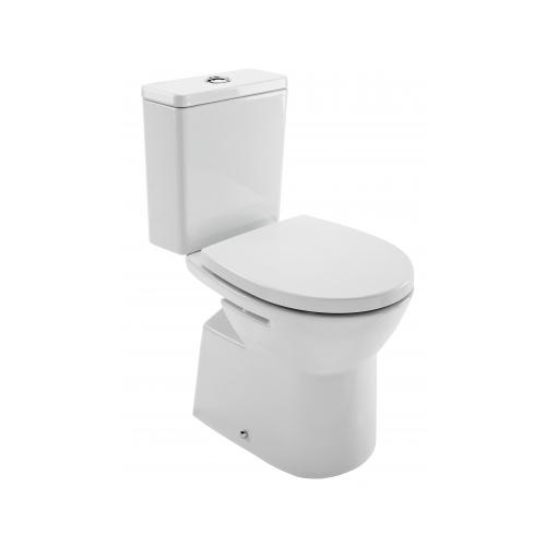 Kombinuotas WC EASY su kietu, soft close dangčiu, horizontalus, 3/6 ltr, baltas