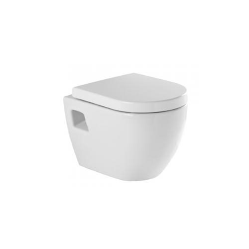 Pakabinamas unitazas SANIBOLD su soft close dangčiu  (365x510x364mm), baltas