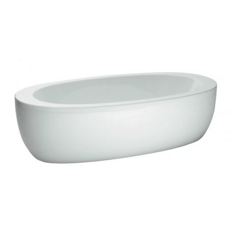 ALESSI ONE vonia 204x102 cm, laisvai statoma, su aliuminio rėmu ir paneliais, talpa 230 l., balta
