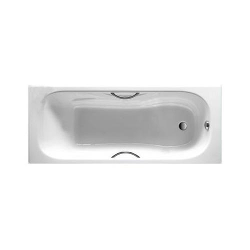 MALIBU ketaus vonia 170x70 cm su ranktūriais (7.5268.0.301.0) (chromas), antislip
