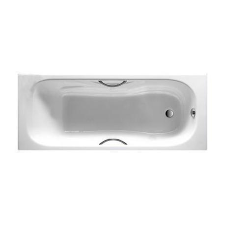 MALIBU emaliuota ketaus vonia 160 × 70 cm, antislip, balta