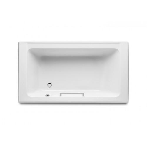 AMERICA akrilinė vonia 180x100 cm su kojelėmis, chromuota rankenėle, talpa 250 l, balta