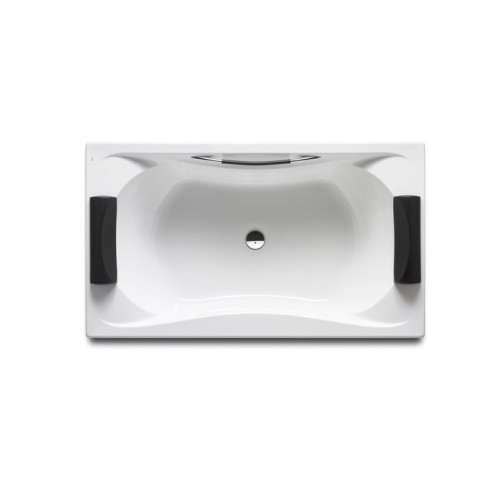 BeCOOL BIPLAZA dvivietė akrilinė vonia 180x90 cm, oda traukta rankena, reg. kojos, balta (su sifonu 7B0008600R)