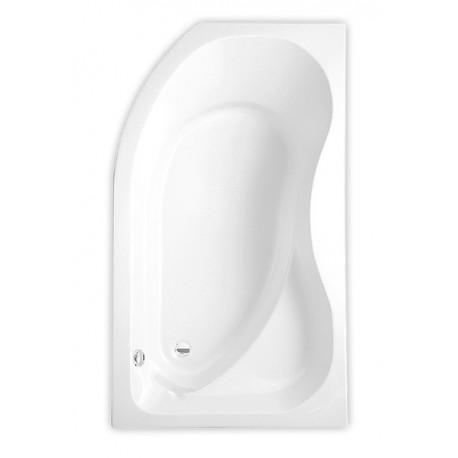Akrilinė kampinė asimetrinė vonia ACTIVA 1500x900 mm, kairinė, balta