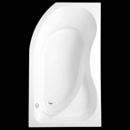 Asimetrinė vonia Activa L 160 x 90 cm, kairinė