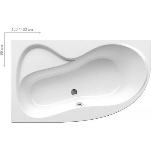 Akrilinė vonia ROSA 95,150x95 cm,