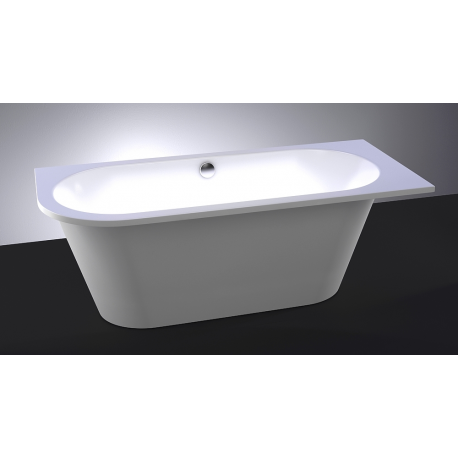 Akmens masės vonia Evento 1750 x 750 mm,su 1 apvalintu kampu dešinėje,balta (1001113L)