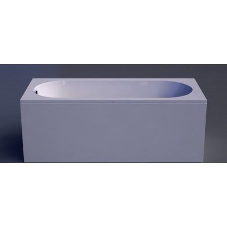 LIBERO akmens masės vonia 170 x 80 cm, balta
