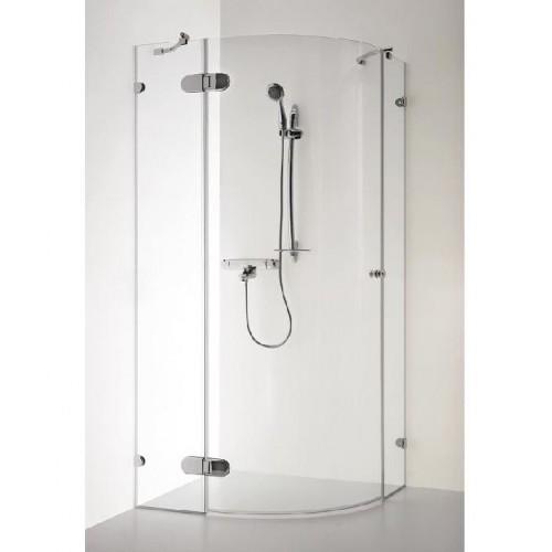 BANGA dušo kabina 1000x1000x1900mm,rudas stiklas