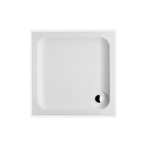 Deep Dušo padėklas 80 x 80 x 8cm, kvadratinis, statomas, akrilinis, baltas
