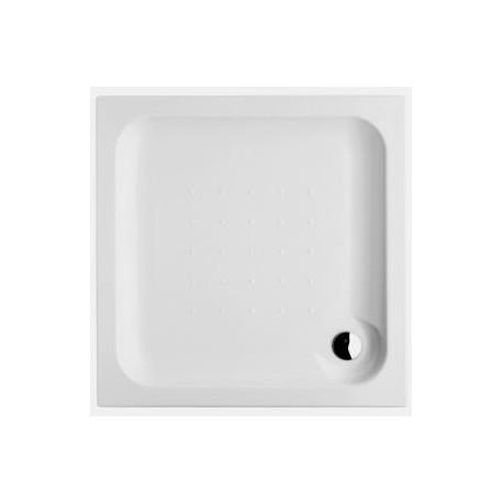 Deep Dušo padėklas 100 x 100 x 8 cm, kvadratinis, statomas, akrilinis, baltas