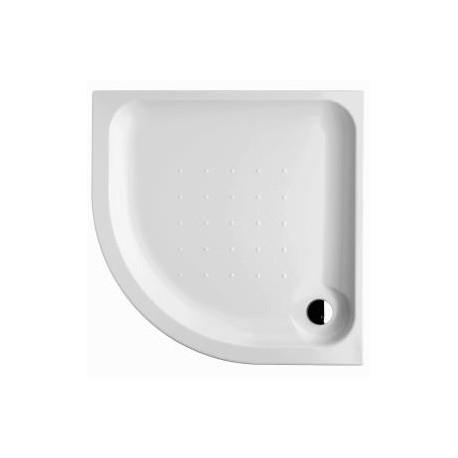 Deep pusapvalis kampinis dušo padėklas 90x90x8 cm,  550 mm spindulio, akrilinis, baltas