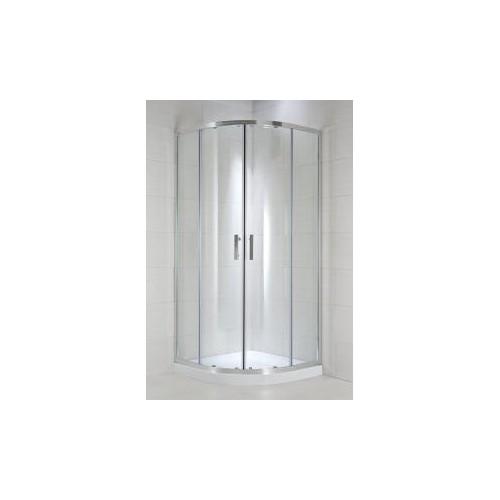 CUBITO pure Dušo kabina 80 x 80 x 195 cm, pusapvalė, 2 stumdomos durys, skaidrus stiklas, sidabrinis profilis, 540 mm sp