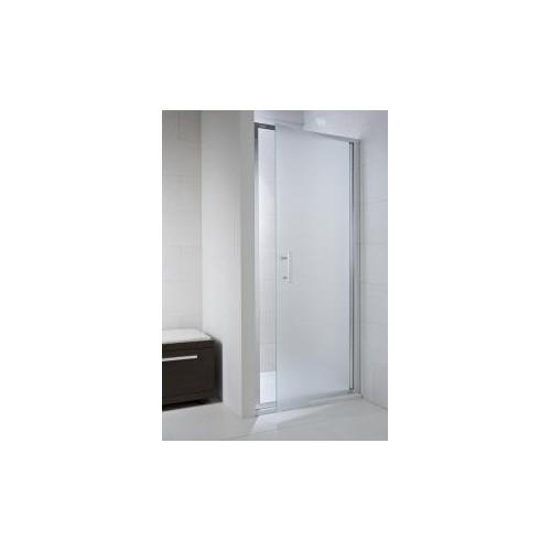 CUBITO pure Viensegmentės dušo durelės 80 x 195 cm, arktinis stiklas, sidabrinis profilis, kairė/dešinė