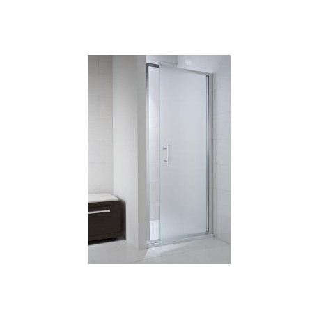 CUBITO pure Viensegmentės dušo durelės 80 x 195 cm, skaidrus stiklas, sidabrinis profilis, kairė/dešinė