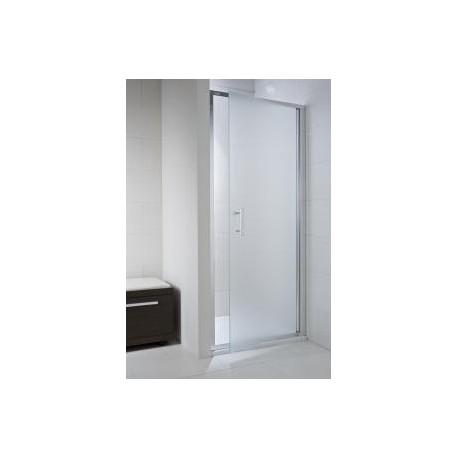 CUBITO pure Viensegmentės dušo durelės 90 x 195  cm, skaidrus stiklas, sidabrinis profilis, kairė/dešinė