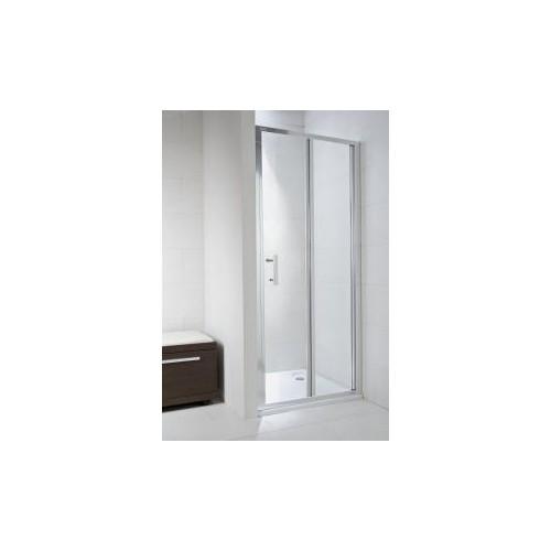 CUBITO pure Sulenkiamos dušo durelės 90  x 195 cm, arktinis stiklas, sidabrinis profilis, kairė/dešinė