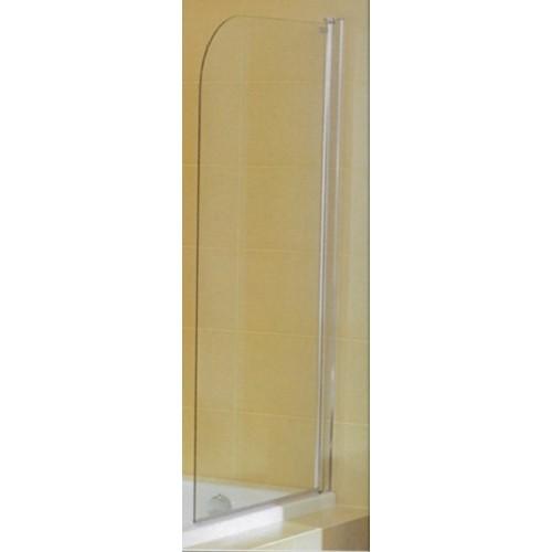 CUBITO Vonios sienelė varstoma 1 dalies,  plotis 750 mm, profil. sidabr. sp., skaidrus stiklas