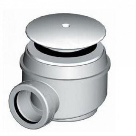 RAVENNA sifonas keraminiams dušo padėklams, 60/40 mm, nerūdijančio plieno gaubteliai su JIKA logotipu, chromas
