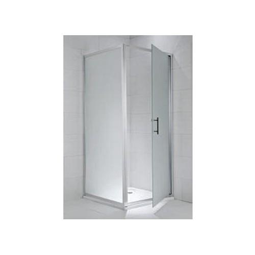 CUBITO pure Stacionari dušo sienelė 90 x 195 cm, skaidrus stiklas, sidabrinis profilis, kairė/dešinė