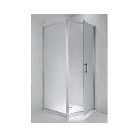 CUBITO pure Stacionari dušo sienelė 100 x 195 cm, arktinis stiklas, sidabrinis profilis, kairė/dešinė