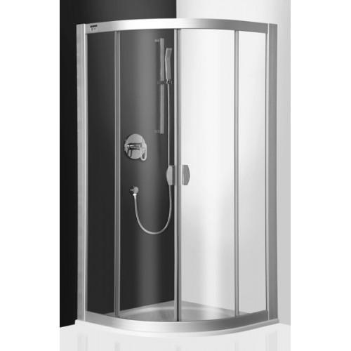 Dušo kabina ECR2  90x90 cm R550 stiklas skaidrus prof.sidabru