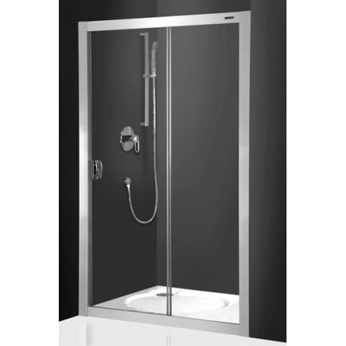 Dušo durys ECD2 1200/1850 Sidabras/Transparent