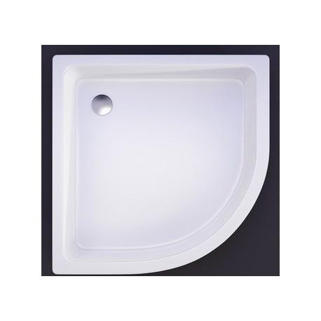 Akmens masės dušo padėklas VISPOOL R-90, 90x90 cm, pusapvalis, R-550