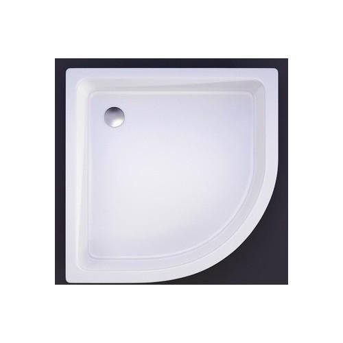Akmens masės dušo padėklas VISPOOL R-100, 100x100 cm, pusapvalis, R-550