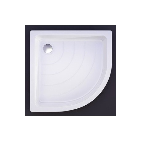 Akmens masės dušo padėklas VISPOOL R-80, 80x80 cm, pusapvalis, R-500