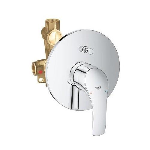 Potinkinis vonios/dušo maišytuvas Eurosmart NEW (su potinkine dalim), chromas