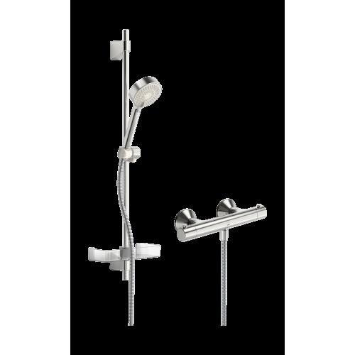 Termostatinis dušo maišytuvas SAFIRA su dušo komplektu L 600, chromas