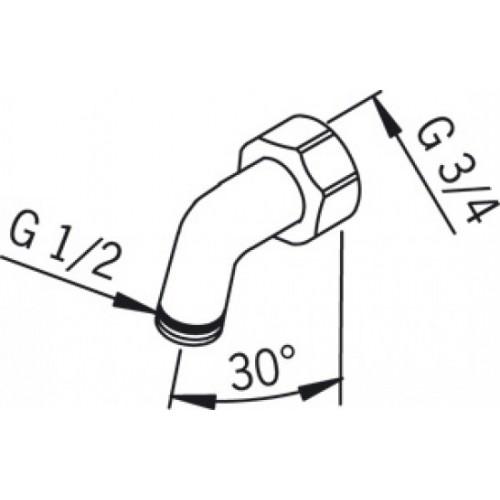 Sieninio dušo alkūnė G3/4