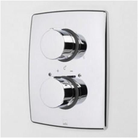 Sienoje montuojamo termostatinio vonios ir dušo maišytuvo išorinė dekoratyvinė dalis