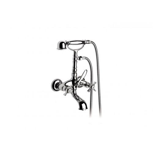FLORENTINA maišytuvas voniai su rankiniu dušu, 1,5 m žarna ir laikikliu, chromas