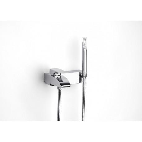 THESIS vonios/dušo maišytuvas su rankiniu dušu, 1,7 m. žarna ir laikikliu, chromas